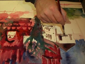 Andreas malt Köpenick