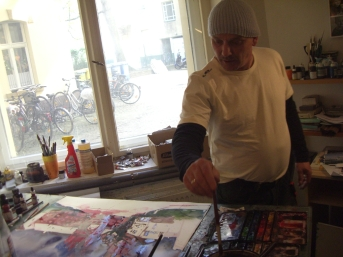 Andreas im Atelier