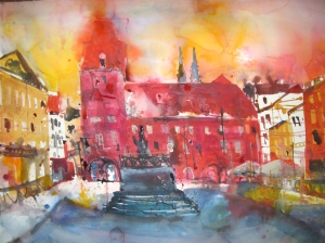 Regensburg - Aquarell von Andreas Mattern