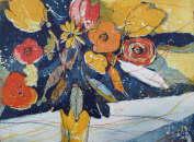 Radierung Blumen von Andreas Mattern