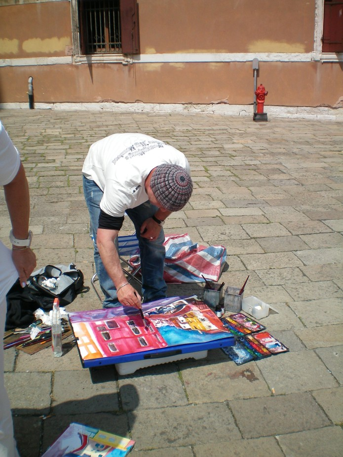 Andreas Mattern malt in Venedig
