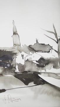 Hilden - Zeichnung von Andreas Mattern