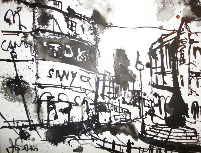 London - Zeichnung von Andreas Mattern