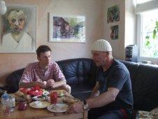 Andreas Mattern und Patrick Hanke beim Frühstück