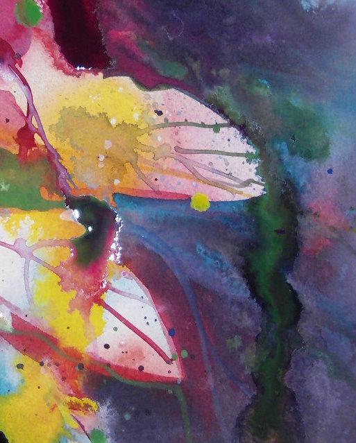 Ausschnitt Blumen - Aquarell von Andreas Mattern