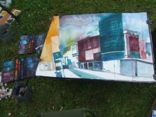 Entstehung Potsdamer Platz - Aquarell von Andreas Mattern