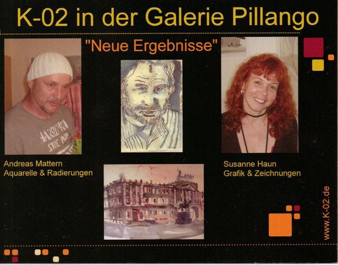 Einladung Ausstellung in der Galerie Pillango