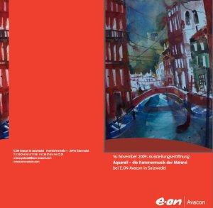 """Einladung """"Die Kammermusik der Malerei"""" Aquarell von Andreas Mattern"""