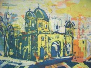 Berliner Dom - Radierung von Andreas Mattern - 15 x 20 cm