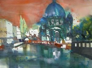 Berliner Dom - Aquarell von Andreas - 56 x 76 cm