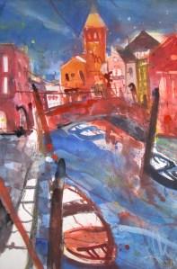 Venedig - Aquarell von Andreas Mattern - 56 x 38 cm - Aquarell auf Bütten
