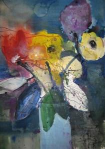 Blumen - Aquarell von Andreas Mattern - 56 x 38 cm - Aquarell auf Bütten