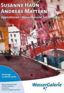 Poster Wassergalerie - Einladung zur Austellungseröffnung