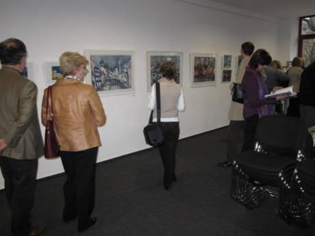Während der Ausstellung
