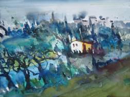 Volterra - Aquarell von Andreas Mattern