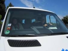 Dreamteam - ich und Manfred im Bus