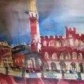 Siena – Aquarell von AndreasMattern
