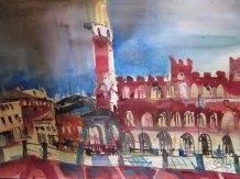 Siena - Aquarell von Andreas Mattern