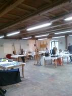 Meine Schüler im Atelier in der Kunstakademie Bad Reichenhall
