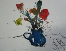 Blumenstrauß - Aquarell auf Bütten - 20 x 30 cm - Andreas Mattern