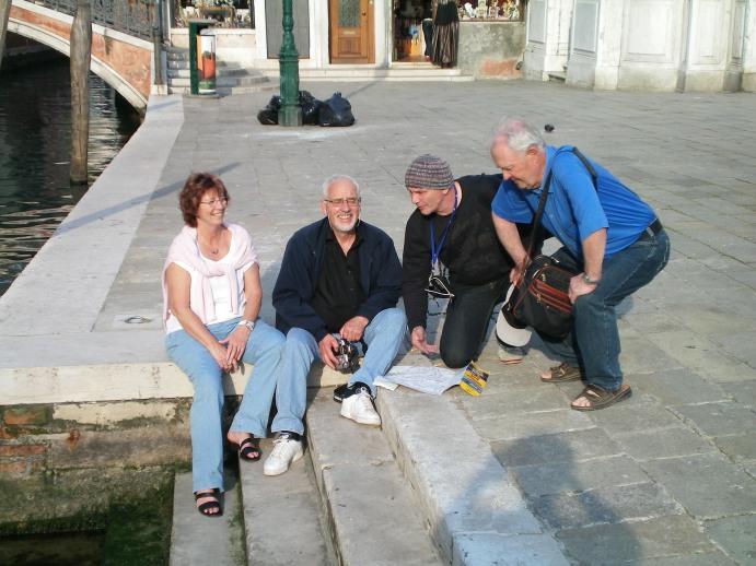 2009 in Venedig mit meinen Schülern