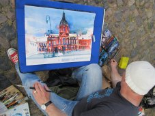 3. Zustand Aquarell Schloss Charlottenburg von Andreas Mattern