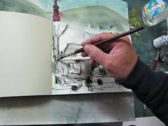 Entstehung Autos im Skizzenbuch Andreas Mattern
