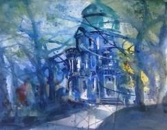 Pavillion beim Schloss Charlottenburg - Aquarell von Andreas Mattern