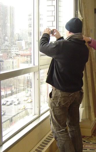 Schnell ein Foto aus dem Hotelfenster