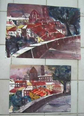 Volterra im Vergleich - Aquarelle von Andreas Mattern
