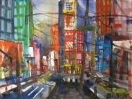 N.Y. - Aquarell von Andreas Mattern - 56 x 76 cm