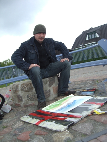 Malen in Zempin am Hafen