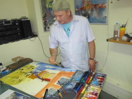 Ich und mein hellblaues Hemd malen Venedig