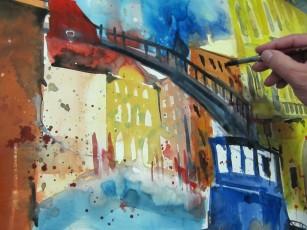Entstehung Academia, Venedig