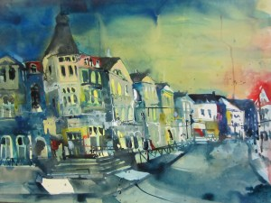 Usedom, Bansin - Aquarell von Andreas Mattern - 56 x 76 cm