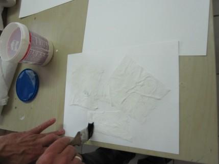 Ich beim bearbeiten des Papiers