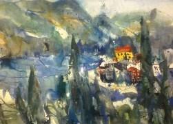 Gardasee - Aquarell von Andreas Mattern