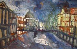 Berliner Dom an der Spree - Aquarell von Andreas Mattern