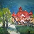 Schloss Stolpe auf Usedom – Aquarell von AndreasMattern