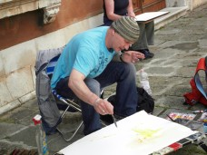 Ich male in Venedig