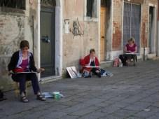 Drei meiner Malschüler in Venedig
