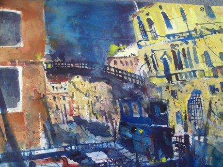 Venedig, Academia - Aquarell von Andreas Mattern - 56 x 78 cm