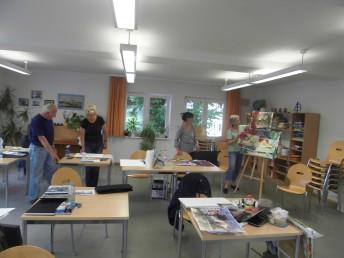 Mein Kurs beim Malen auf Usedom
