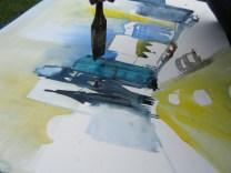 Die Gedächtniskirche - Entstehung Aquarell von Andreas Mattern