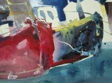 Entstehung Boote Aquarell von Andreas Mattern Teil 3