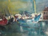 Entstehung Boote Aquarell von Andreas Mattern Teil 6