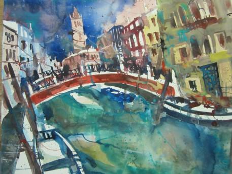 San Lorenzo - Aquarell von Andreas Mattern - 56 x 76 cm