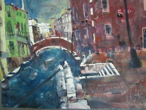 Venedig - Aquarell von Andreas Mattern - 56 x 76 cm - 2010
