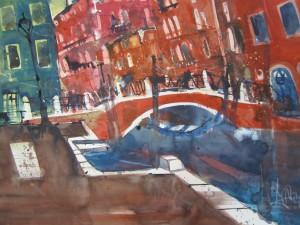 Venedig - Aquarell von Andreas Mattern - 56 x 76 cm