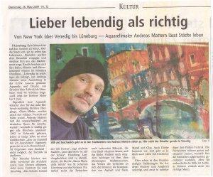 Ich in der Landeszeitung Lüneburg 2009